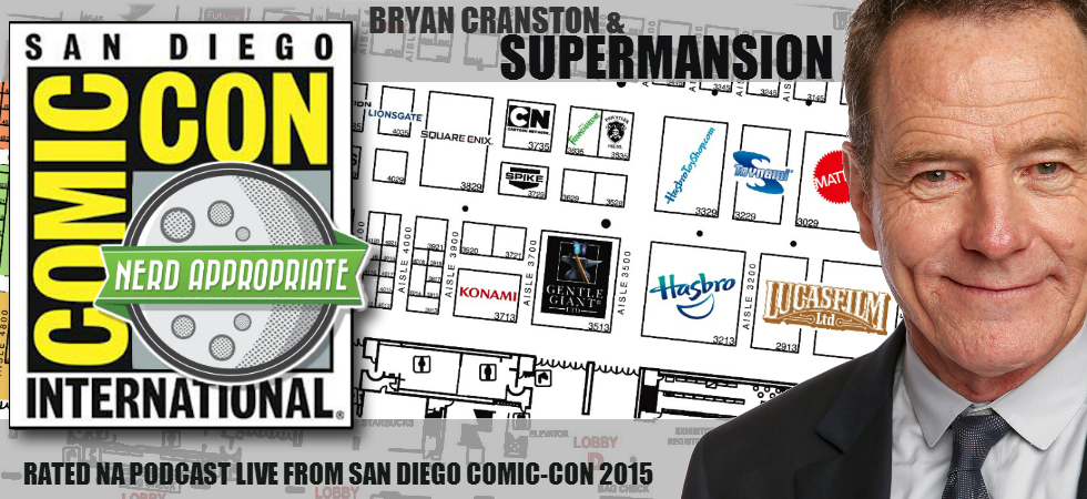 Rated NA: Bryan Cranston And The Cast And Creators Of Supermansion Live At San Diego Comic Con 2015