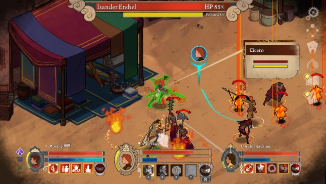 action RPG set in a hand drawn 2 5
